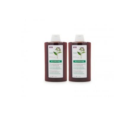 Klorane champú al extracto de quinina 2x400ml