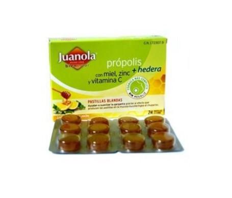 Juanola® pastillas própolis hiedra, miel, zinc y vitamina C 24uds