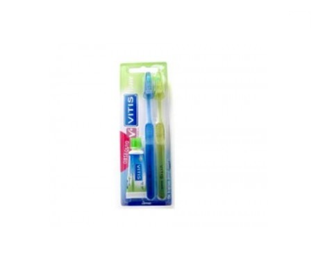 Vitis Access cepillo dental adulto suave 2uds