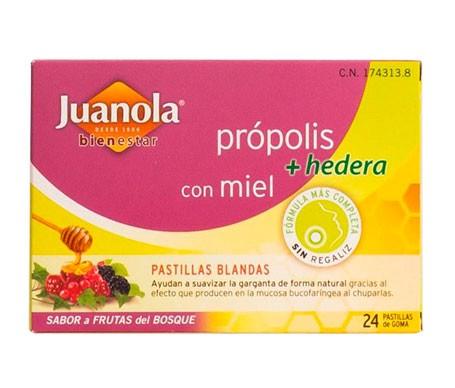 Juanola® pastillas própolis hiedra y frutas del bosque 24uds