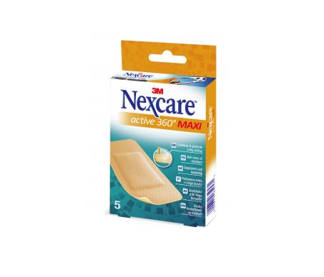 Nexcare® Active 360º Maxi tiras adhesivas 54x86mm 5uds
