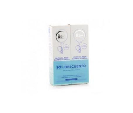 Be+ pasta al agua cambio de pañal 75ml+75ml 40% dto. 2ªud