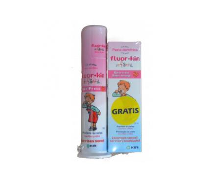 Fluor Kin infantil pasta dentifrica dosificadora 50ml + pasta dentifrica 50ml