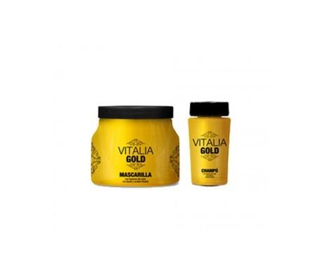 TH Vitalia Gold shampoo 250ml + maschera per capelli istantanea senza risciacquo 100ml