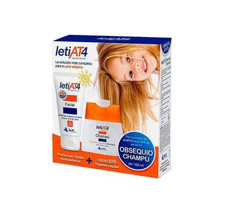 LetiAT4 crema emoliente 200ml + obsequio champú 100ml
