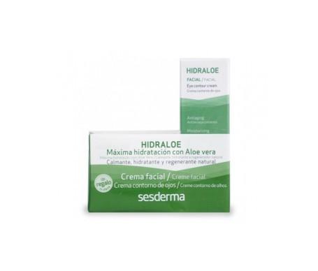 Sesderma Hidraloe Pack crema facial hidratante 50ml + crema contorno de ojos 15ml