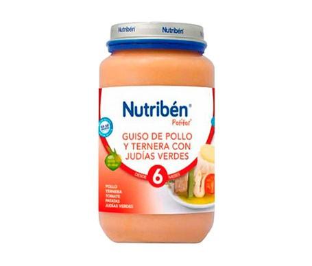 Nutribén® guiso de pollo y ternera con judías verdes 250g