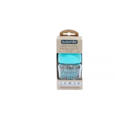 Suavinex®  biberón de vidrio 3 posiciones látex 120ml 1ud