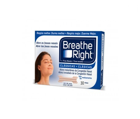 Breathe Right tira nasal talla pequeña-mediana 30uds