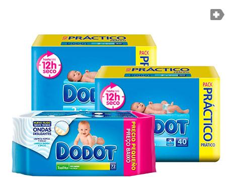 Dodot T-2 3-6kg 40uds+40uds + Dermo toallitas 72uds