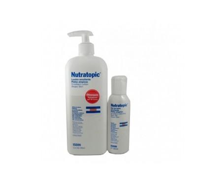 Nutratopic loción emoliente 400ml+ gel baño regalo 100ml