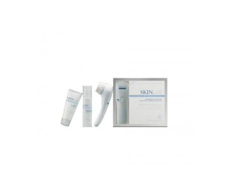 Skinlab intensivo esfoliante viso scrub trattamento applicatore + esfoliante 60ml + idratante 50ml
