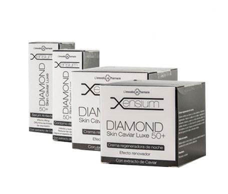 Xensium Diamond Caviar crema de día 50ml + crema de noche 50ml + sérum antiedad 30ml + contorno de ojos 20ml