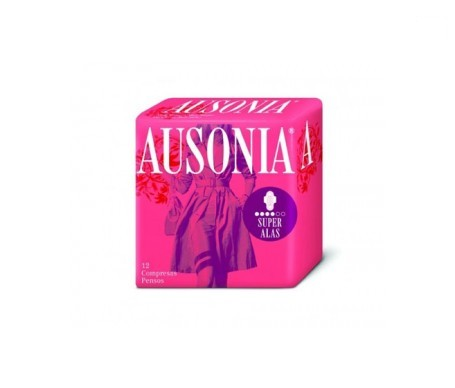 Ausonia® Airdry compresa super alas 10uds