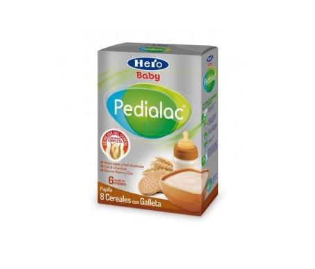 Hero Pedialac papilla 8 cereales con galletas 500g
