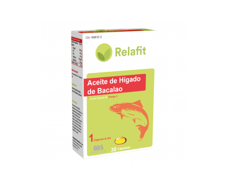 Relafit MS aceite de hígado de bacalao 30cáps
