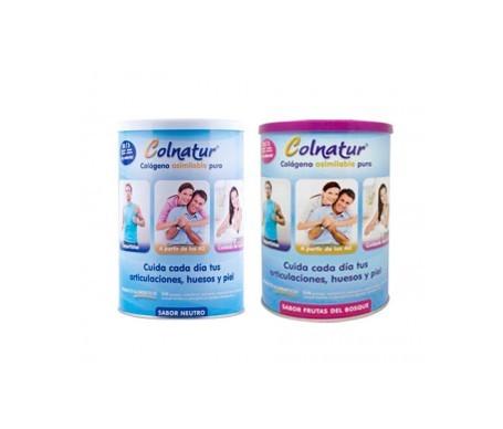 Colnatur® colágeno sabor neutro 300g + Colnatur® colágeno asimilable puro frutas del bosque 300g