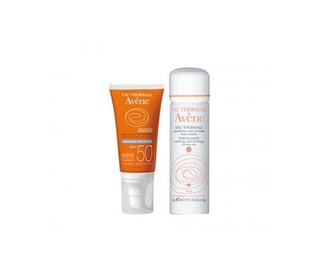 Avène thermal water 50ml + Avène sun cream with colour SPF50+ 50ml