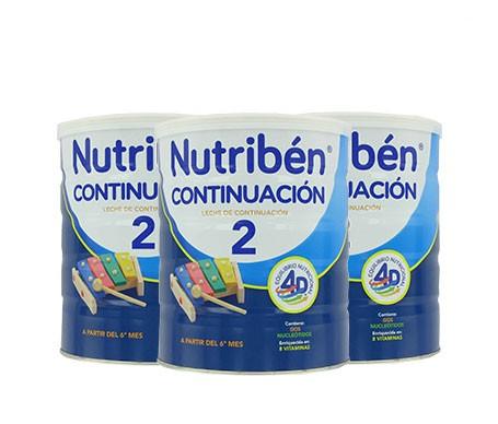 Nutribén® leche de continuación 3x800g