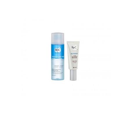 Roc® Pro-Preserve protector antioxidante 40ml + loción desmaquillante ojos 125ml