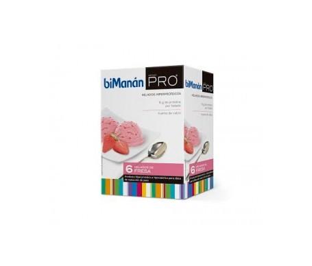 biManán® método pro helados fresa 6 sobres