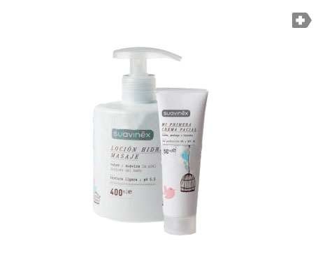 Suavinex® mi primera crema facial 50ml + loción hidratante masaje 400ml