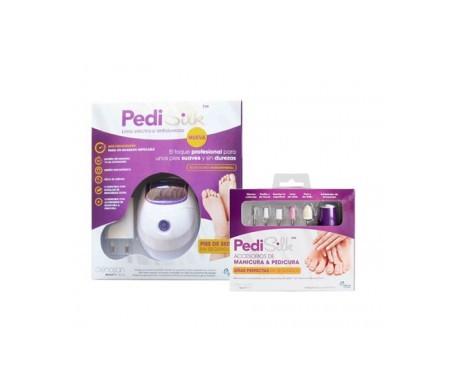 PediSilk lima eléctrica antidurezas + accesorios de manicura y pedicura
