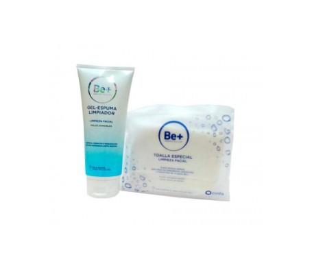 Be+ gel nettoyant mousse 200ml + serviette nettoyante spéciale visage