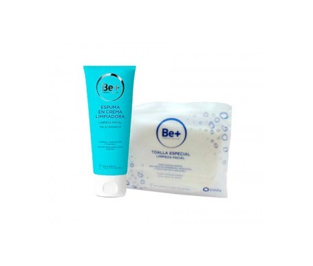Be+ foam cleansing cream 200ml + special cleaning towel
