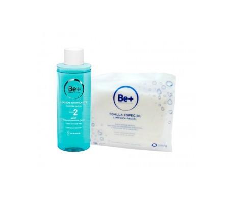 Be+ loción tonificante 200ml + toalla limpieza facial