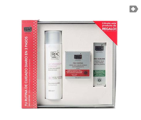 ROC® pack flacidez leche limpiadora 200ml+crema reafirmante 50ml+crema contorno de ojos 15ml