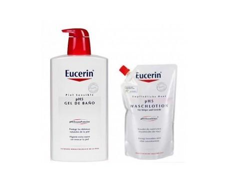 Eucerin® gel de baño pH5 1000ml + recarga 400ml