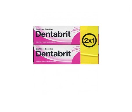 Dentabrit Gommes Sensibles 75ml+75ml