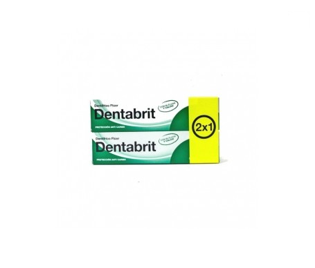 Dentabrit pasta dental flúor 75ml+75ml