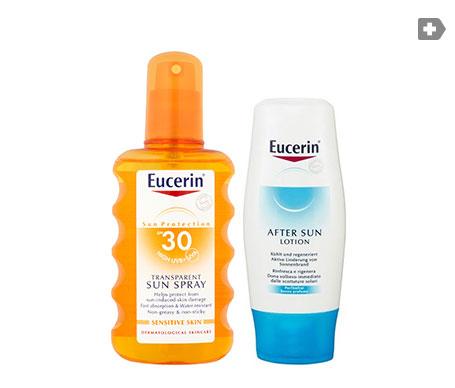 Eucerin® Sun spray transparente SPF30+ 200ml + aftersun 150ml