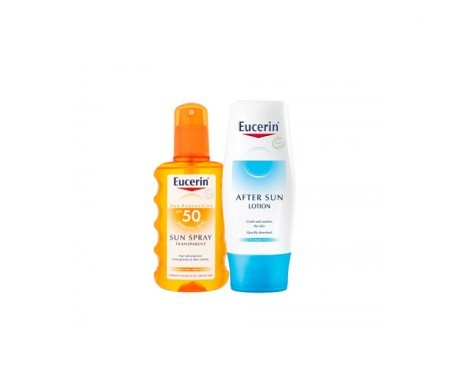 Eucerin® Sun spray transparente SPF50+ 200ml + aftersun 150ml