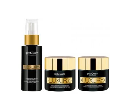 Postquam Pack Luxury Gold siero 30ml + crema giorno 50ml + crema notte 50 ml