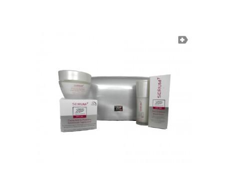 Serum7 neceser plata sérum primeras arrugas 30ml + crema día protectora SPF15+ 50ml