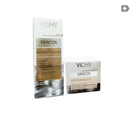 Crema Shampoo Vichy Dercos nutriente e riparatrice 200ml + ricca maschera per capelli 200ml