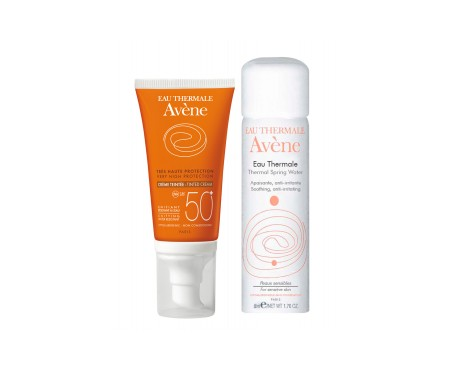 Avène Solar crema coloreada SPF50+ 50ml + agua termal 50ml