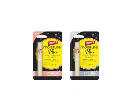 Carmex™ Moisture Plus 2g + Carmex™ Moisture Plus Peach 2g