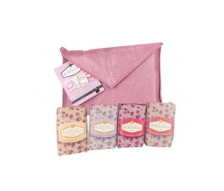 Klorane Pack Anne De Peraudel 4 jabones perfumados + bolso rosa