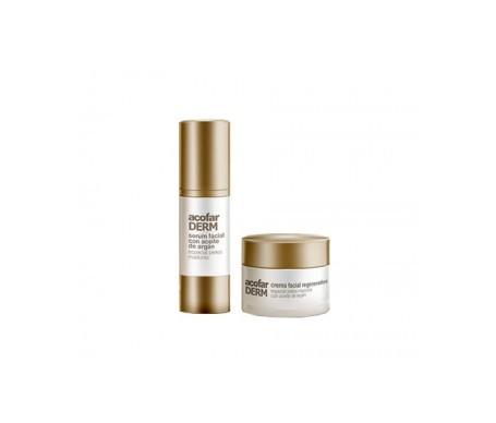 Acofarderm sérum visage à l'argan 30ml + crème visage à l'huile d'argan SPF15+ 50ml