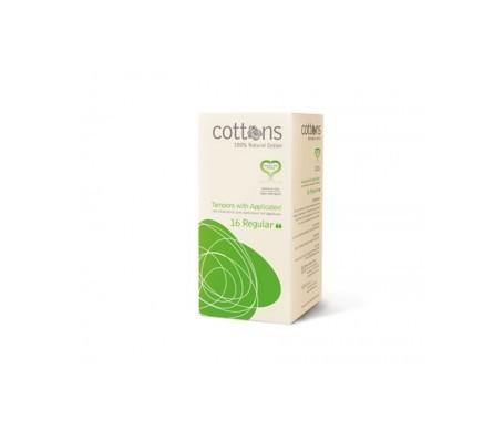 Tampon Cottons avec applicateur à absorption régulière 16 pcs