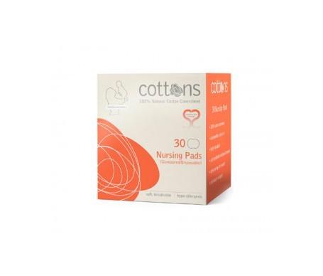 Cottons discos de lactancia 100% algodón 30uds