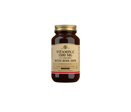 Solgar vitamina C con escaramujo 1500mg 180comp