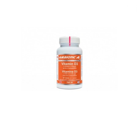Airbiotic® AB vitamina D3 125mg 30 tabletas