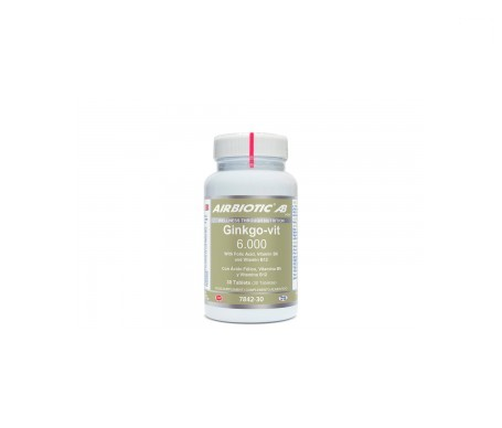 Airbiotic® AB ginkgo-vit 6000 30 tabletas