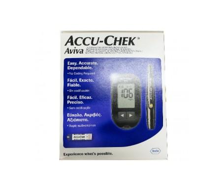 Accu-chek Aviva medidor + Accu-chek Softclix