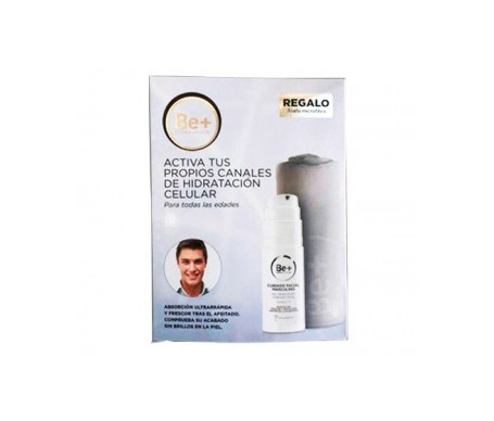 Be+ cuidado facial masculino gel hidratante confort total 50ml + Obsequio